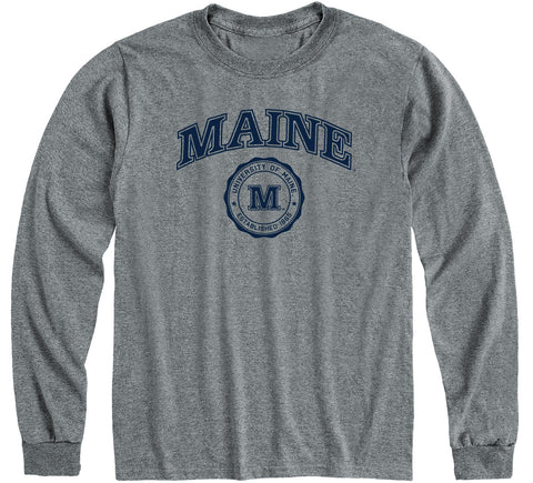 University of Maine Heritage Long Sleeve T-Shirt (Charcoal Grey)