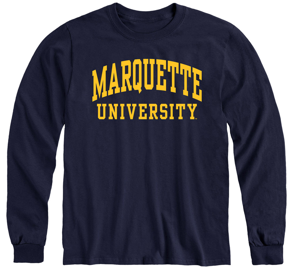 Marquette University Classic Long Sleeve T-Shirt (Navy)