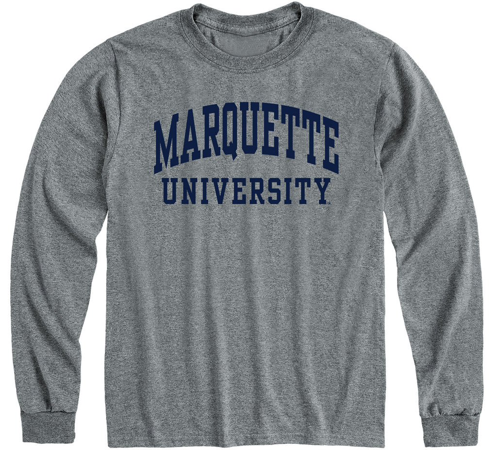 Marquette University Classic Long Sleeve T-Shirt (Charcoal Grey)