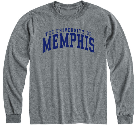 The University of Memphis Classic Long Sleeve T-Shirt (Charcoal Grey)