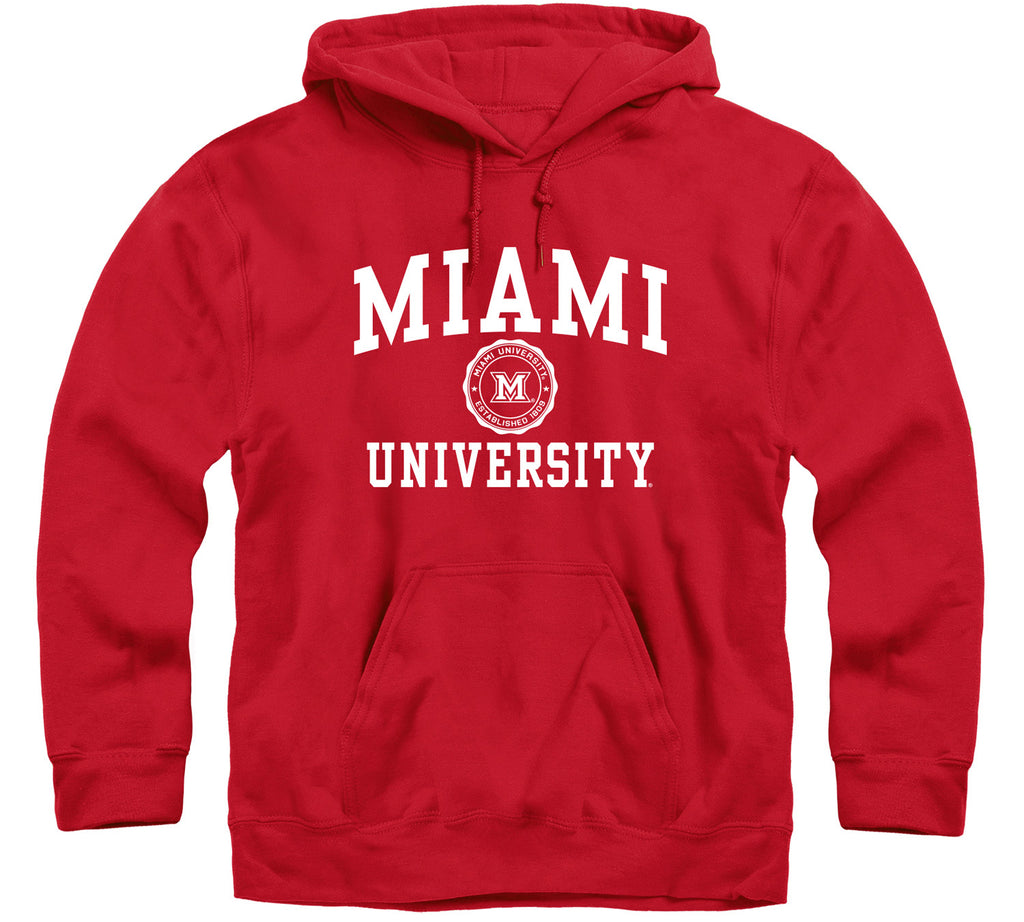 Miami University Heritage Hooded Sweatshirt (Red)