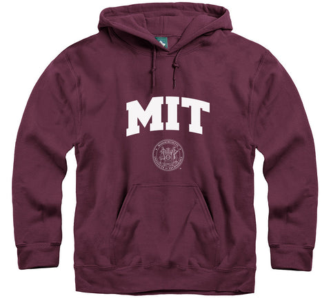 MIT Crest Hooded Sweatshirt (Maroon)