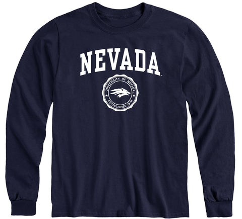 University of Nevada Reno Heritage Long Sleeve T-Shirt (Navy)