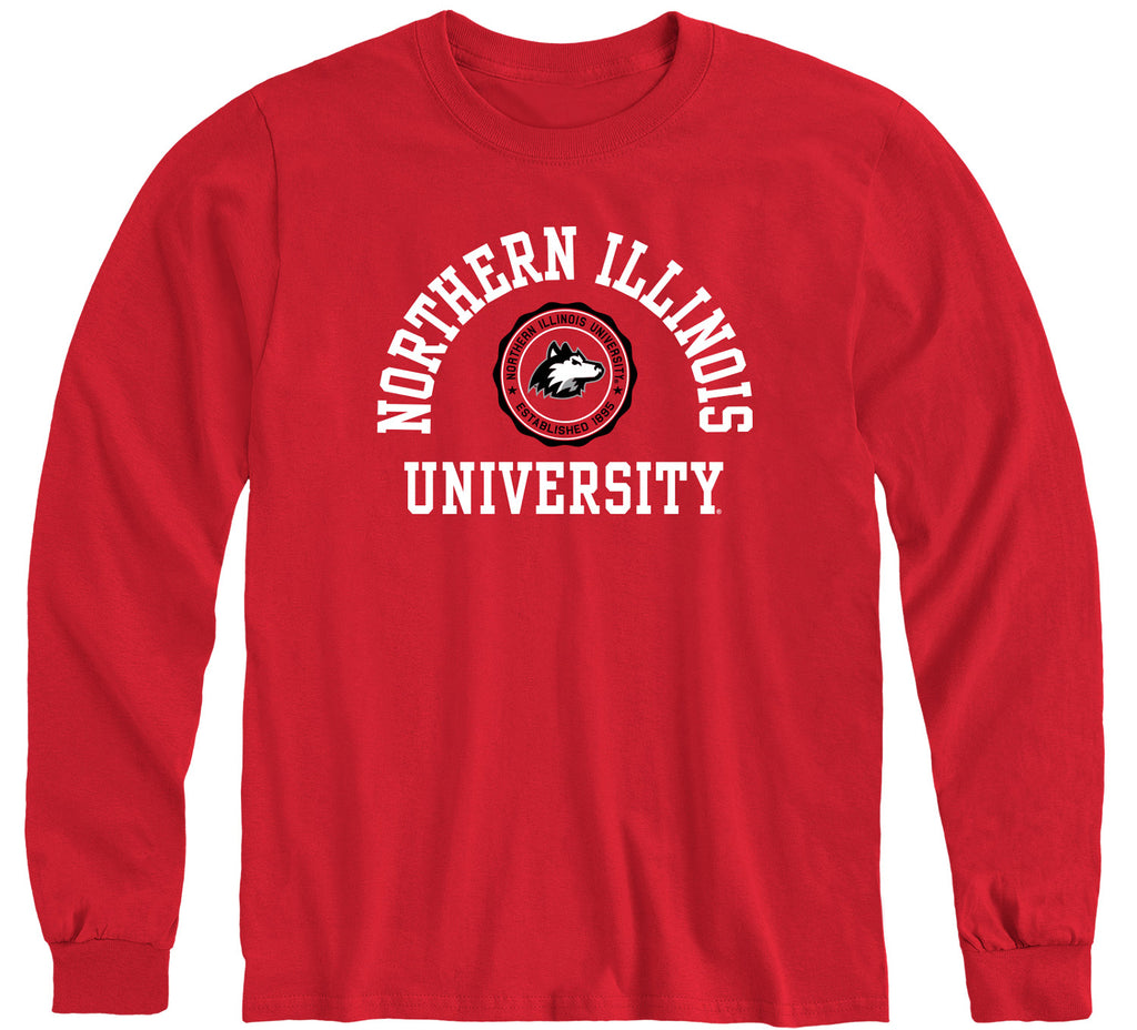 Northern Illinois University Heritage Long Sleeve T-Shirt (Red)