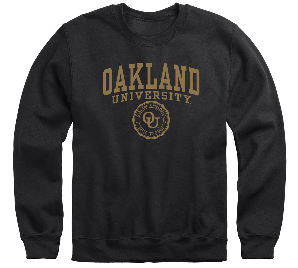 Oakland University Heritage Sweatshirt (Black)