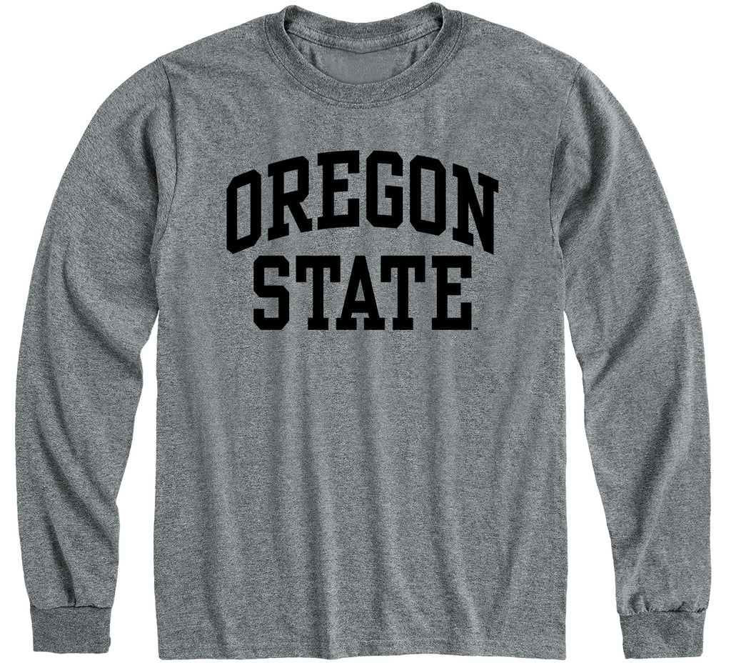 Oregon State University Classic Long Sleeve T-Shirt (Charcoal Grey)