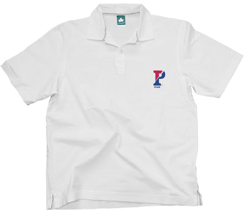 Penn Split-P Cotton Jersey Polo (White)