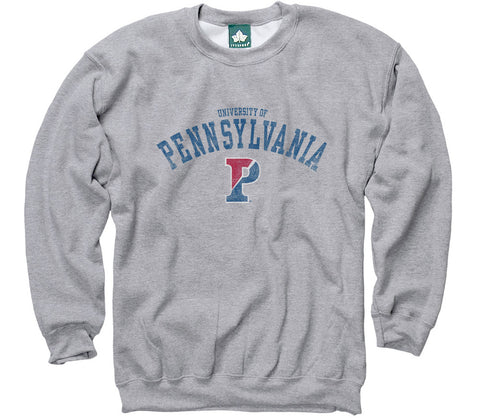 Penn Team Vintage Sweatshirt (Heather Grey)