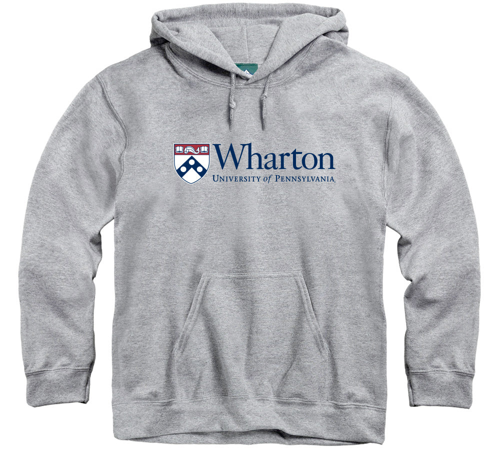 Penn Wharton Hooded Sweatshirt (Heather Grey)