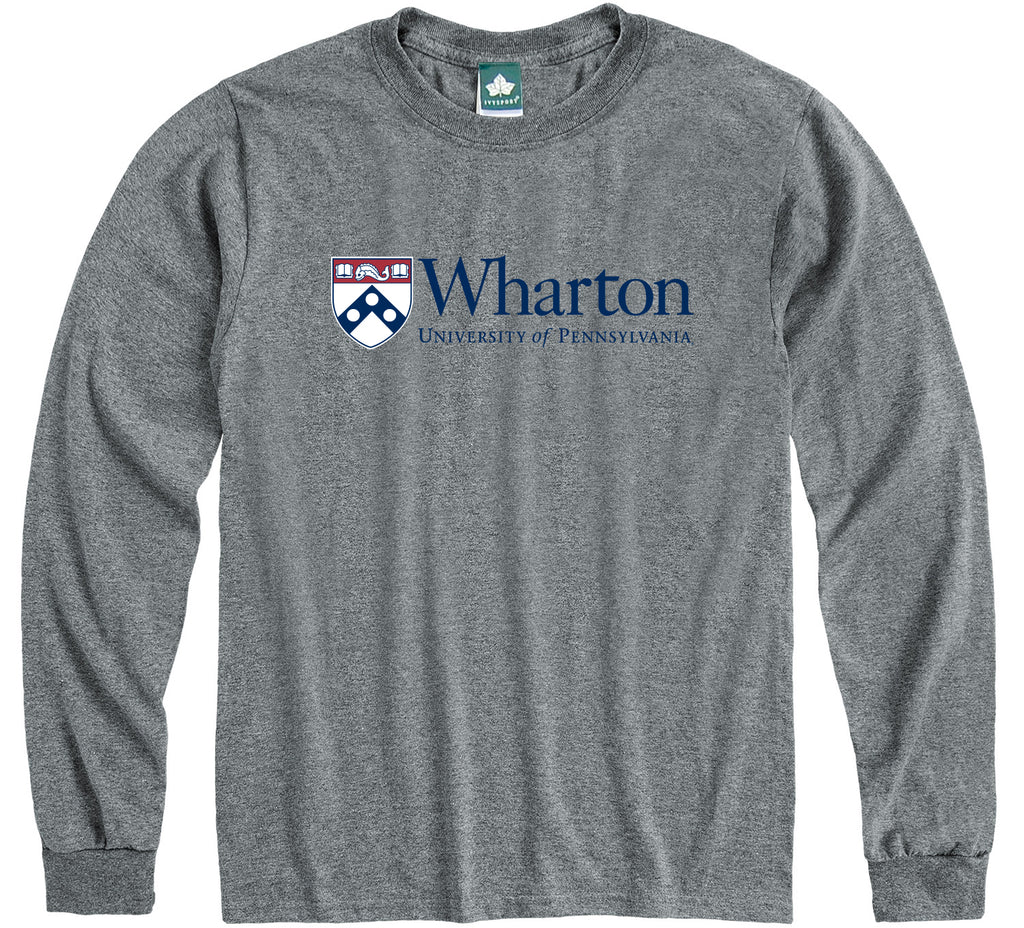 Penn Wharton Long Sleeve T-Shirt (Charcoal Grey)