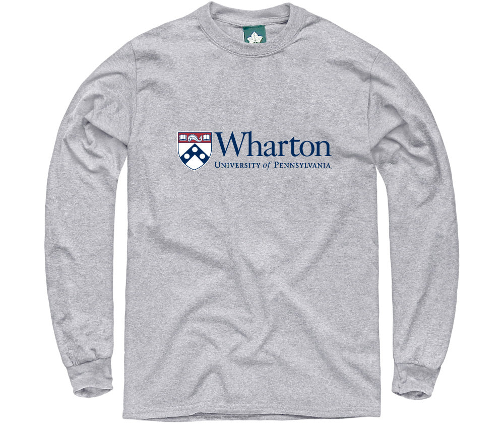 Penn Wharton Long Sleeve T-Shirt (Heather Grey)