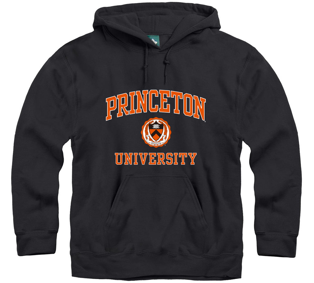 Princeton Crest Hooded Sweatshirt (Black)