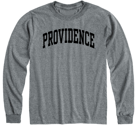 Providence College Classic Long Sleeve T-Shirt (Charcoal Grey)