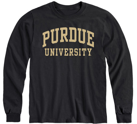Purdue University Classic Long Sleeve T-Shirt (Black)