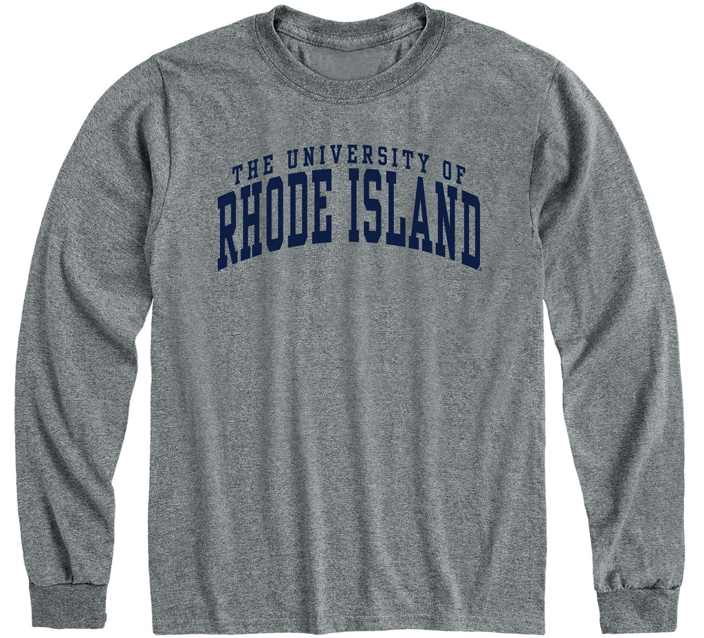 University of Rhode Island Classic Long Sleeve T-Shirt (Charcoal Grey)
