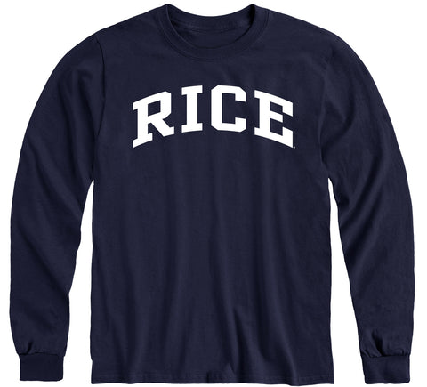 Rice University Classic Long Sleeve T-Shirt (Navy)