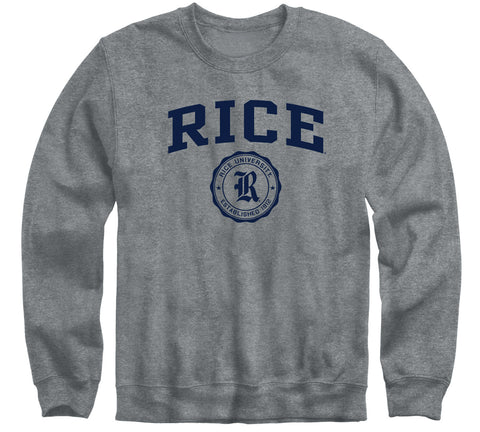Rice University Heritage Sweatshirt (Charcoal Grey)