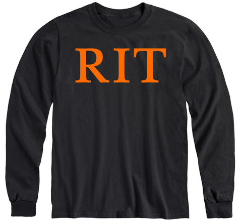 Rochester Institute of Technology Classic Long Sleeve T-Shirt (Black)