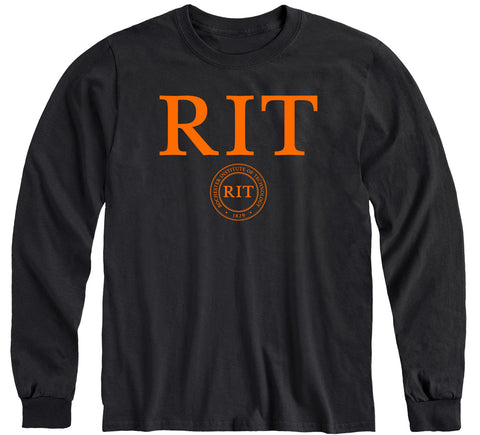 Rochester Institute of Technology Heritage Long Sleeve T-Shirt (Black)