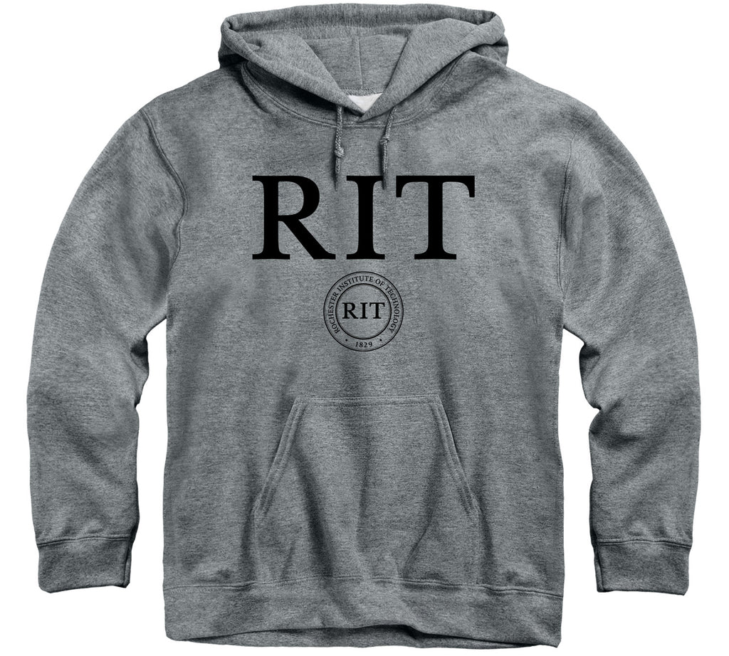 Rochester Institute of Technology Heritage Hooded Sweatshirt (Charcoal Grey)