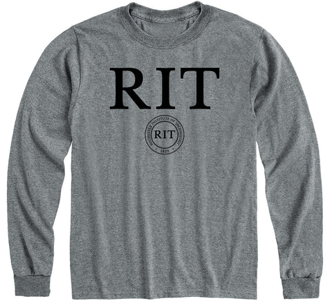 Rochester Institute of Technology Heritage Long Sleeve T-Shirt (Charcoal Grey)