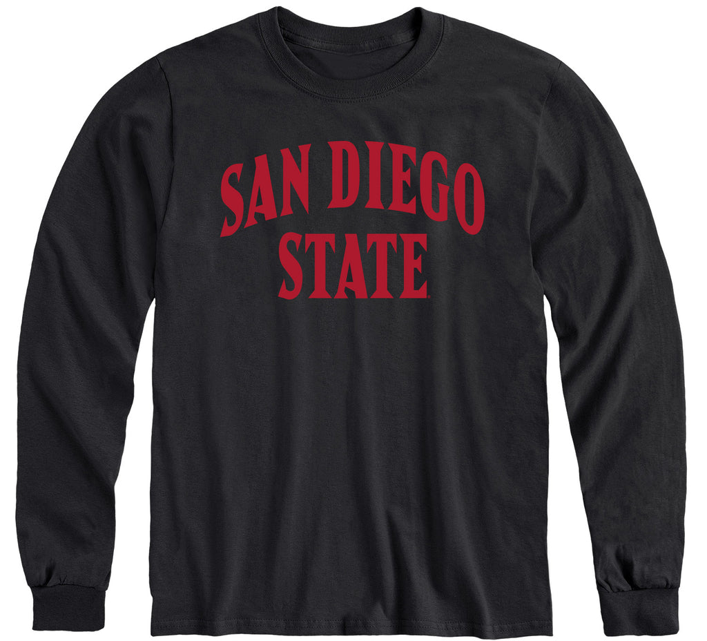 San Diego State University Classic Long Sleeve T-Shirt (Black)