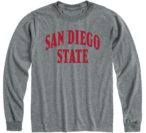 San Diego State University Classic Long Sleeve T-Shirt (Charcoal Grey)