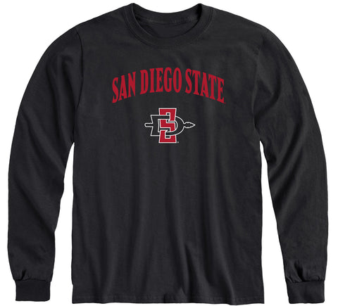 San Diego State University Heritage Long Sleeve T-Shirt (Black)