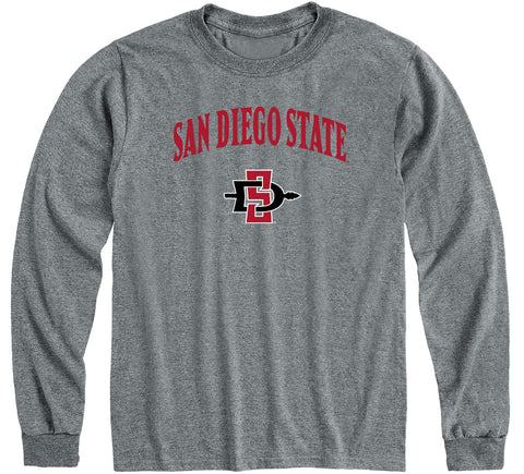 San Diego State University Heritage Long Sleeve T-Shirt (Charcoal Grey)