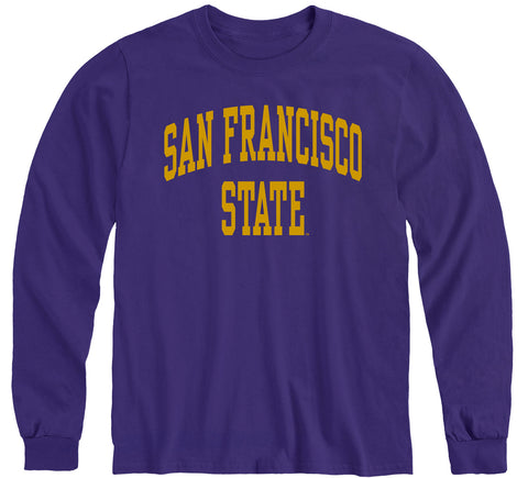 San Francisco State University Classic Long Sleeve T-Shirt (Purple)