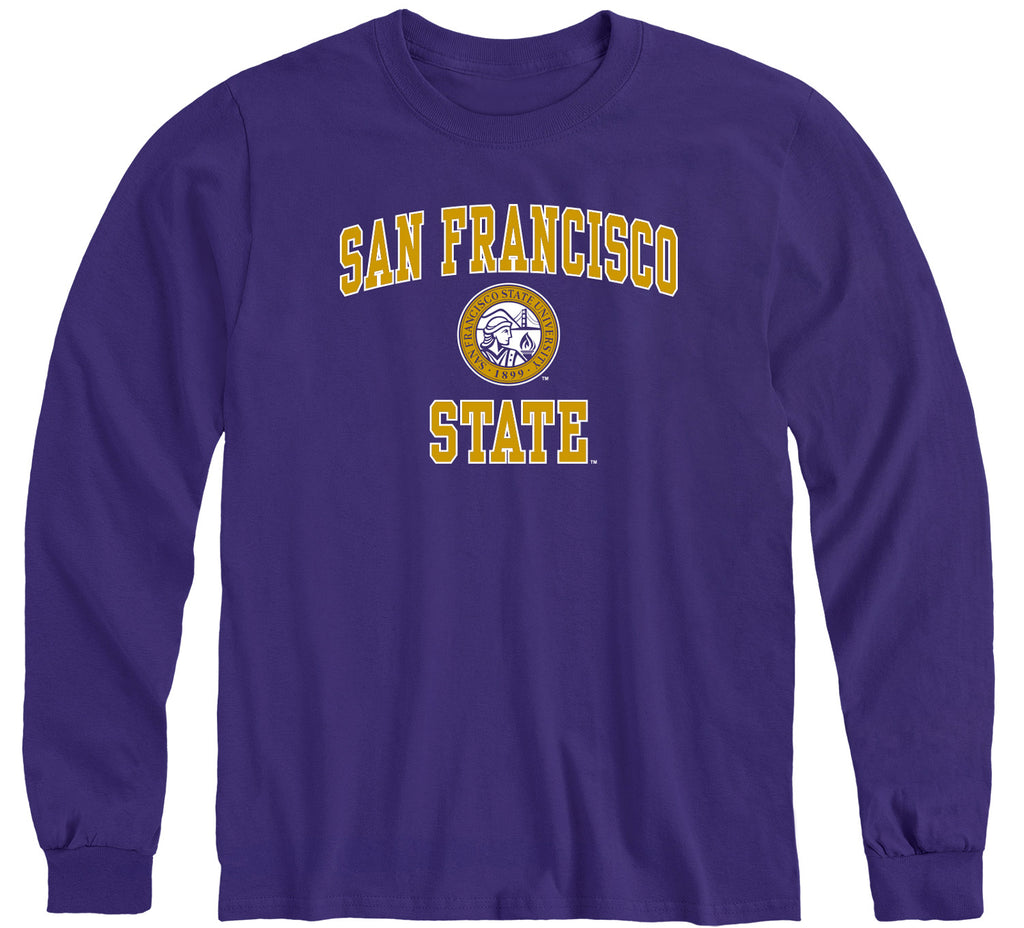 San Francisco State University Heritage Long Sleeve T-Shirt (Purple)