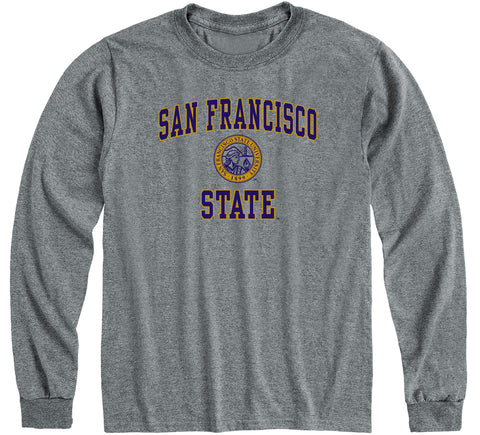 San Francisco State University Heritage Long Sleeve T-Shirt (Charcoal Grey)
