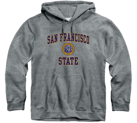 San Francisco State University Heritage Hooded Sweatshirt (Charcoal Grey)