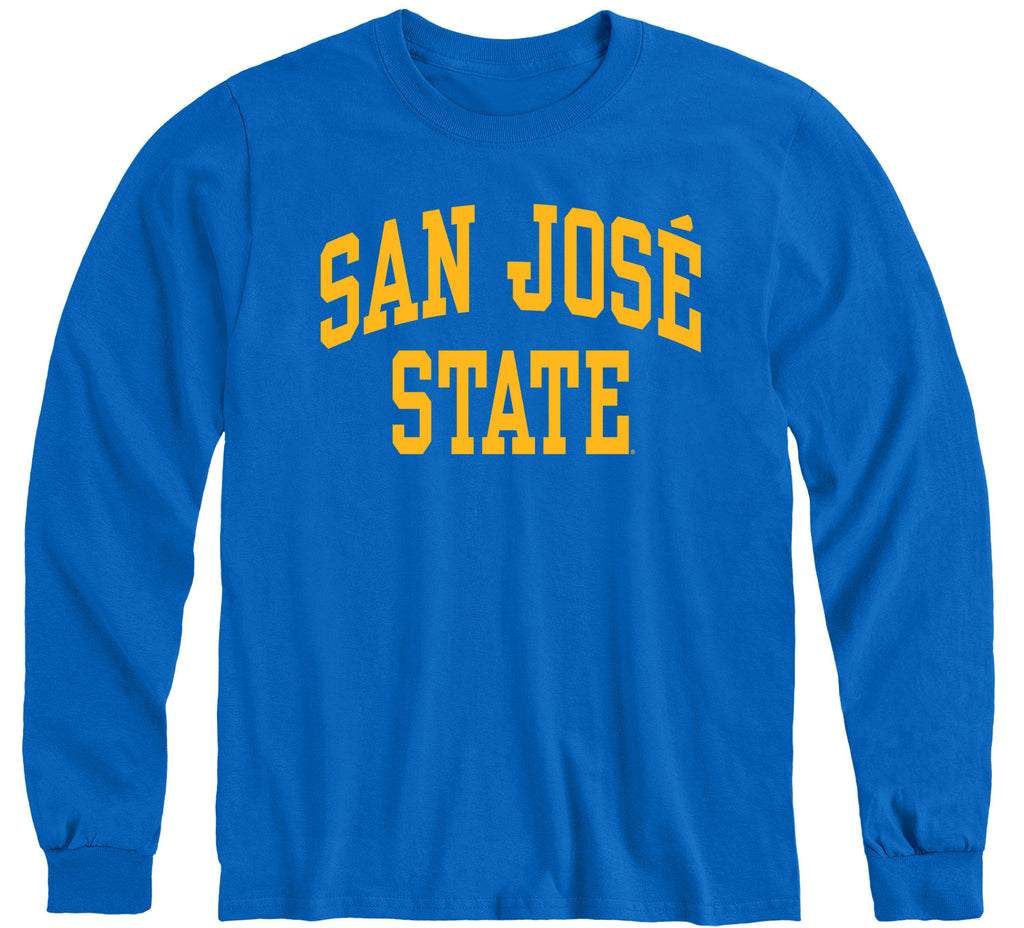 San Jose State University Classic Long Sleeve T-Shirt (Royal Blue)