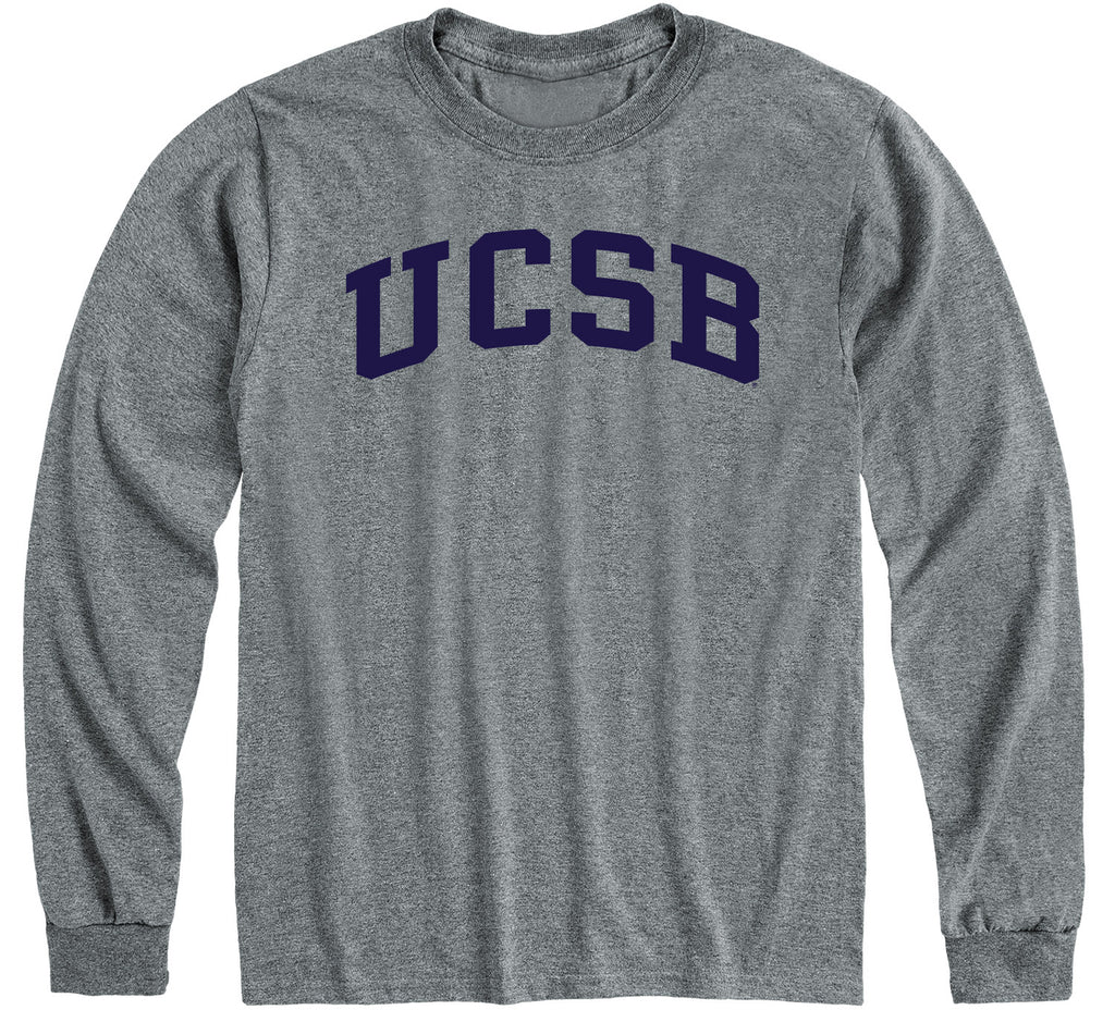 UC Santa Barbara Classic Long Sleeve T-Shirt (Charcoal Grey)