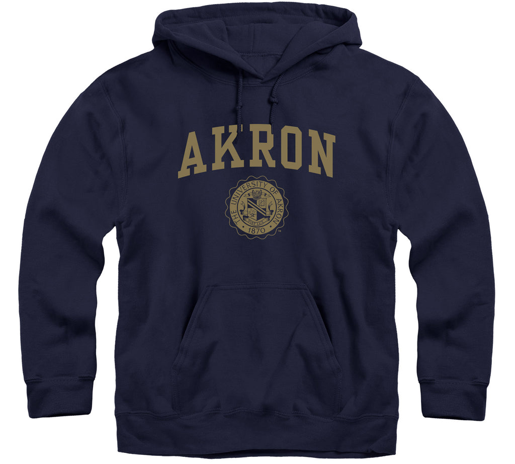 University of Akron Heritage Hooded Sweatshirt (Navy)