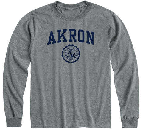 University of Akron Heritage Long Sleeve T-Shirt (Charcoal Grey)