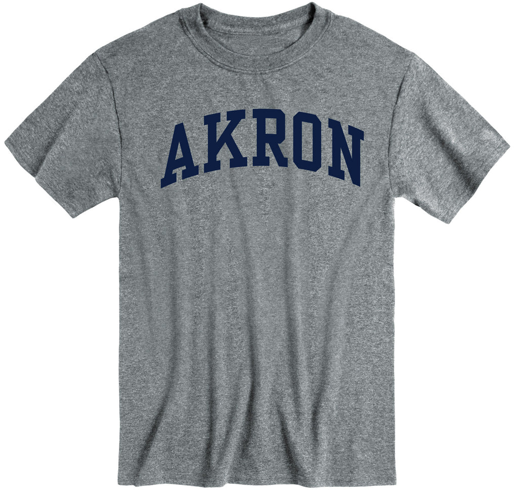 University of Akron Classic T-Shirt (Charcoal Grey)