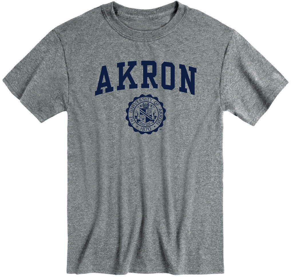 University of Akron Heritage T-Shirt (Charcoal Grey)