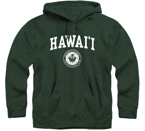 University of Hawaii Heritage Hooded Sweatshirt (Hunter Green)