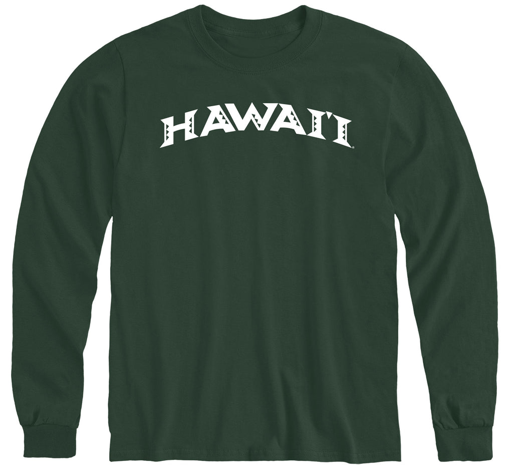 University of Hawaii Classic Long Sleeve T-Shirt (Hunter Green)