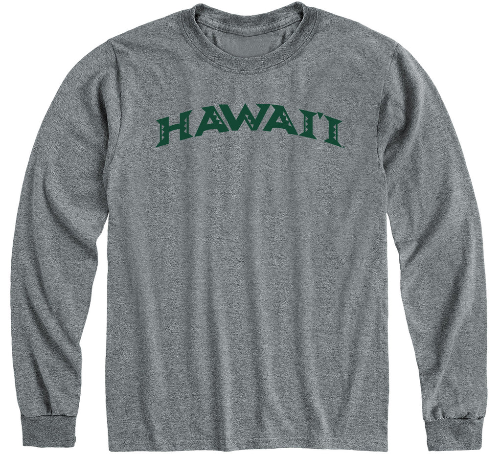 University of Hawaii Classic Long Sleeve T-Shirt (Charcoal Grey)