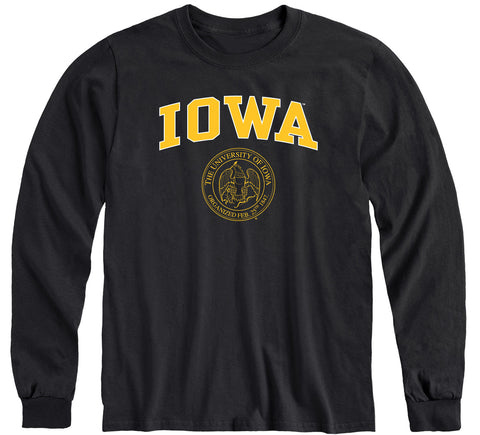 University of Iowa Heritage Long Sleeve T-Shirt (Black)
