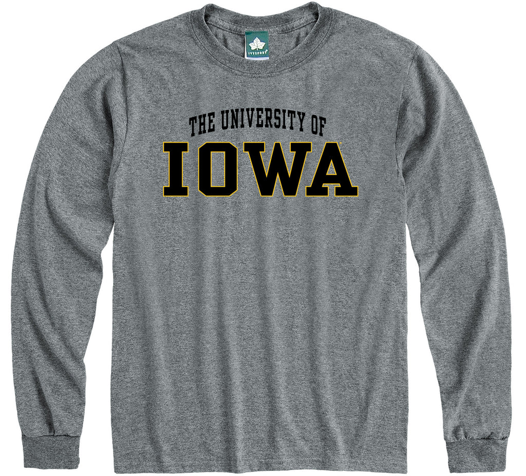 University of Iowa Classic Long Sleeve T-Shirt (Charcoal Grey)