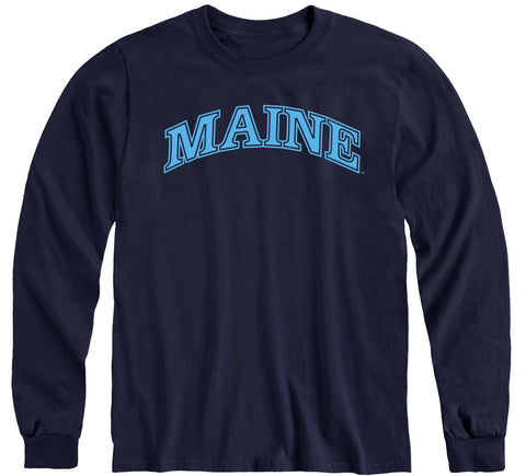 University of Maine Classic Long Sleeve T-Shirt (Navy)