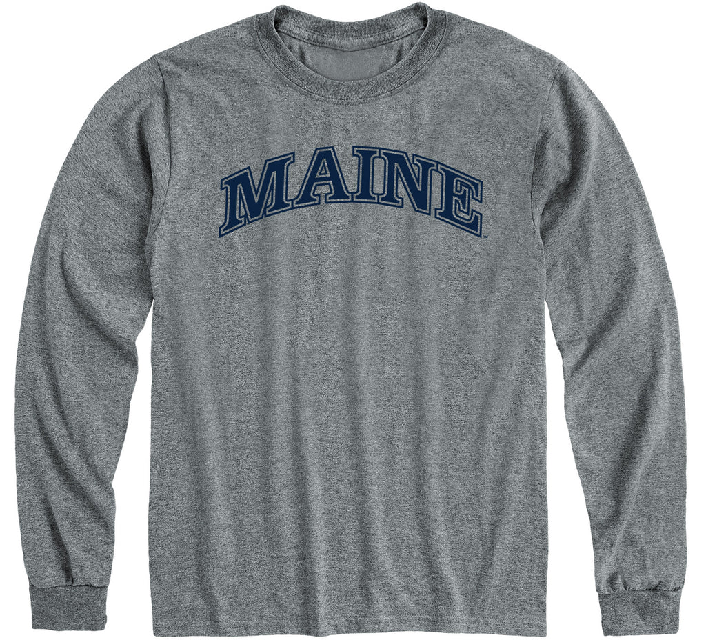 University of Maine Classic Long Sleeve T-Shirt (Charcoal Grey)