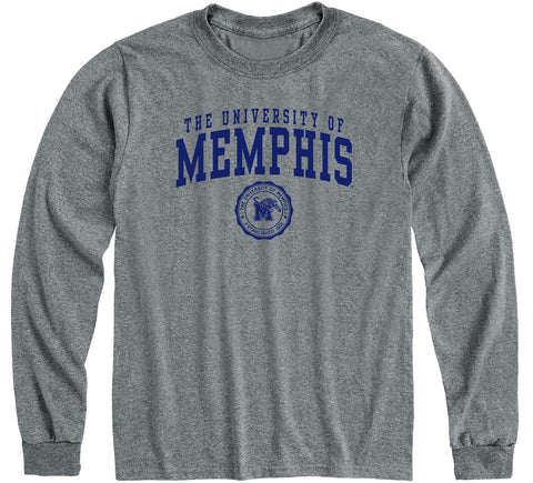The University of Memphis Heritage Long Sleeve T-Shirt (Charcoal Grey)
