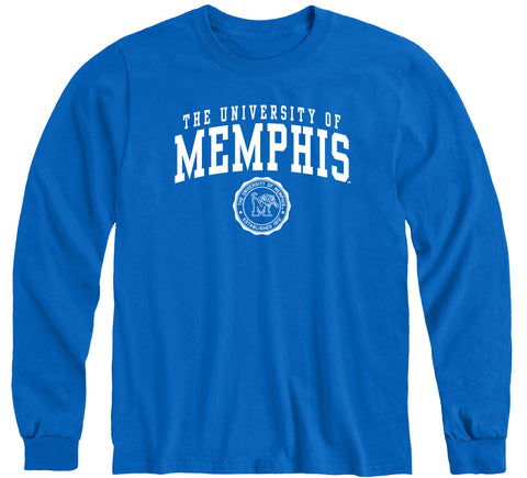 The University of Memphis Heritage Long Sleeve T-Shirt (Royal Blue)