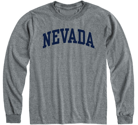 University of Nevada Reno Classic Long Sleeve T-Shirt (Charcoal Grey)