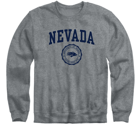 University of Nevada Reno Heritage Sweatshirt (Charcoal Grey)